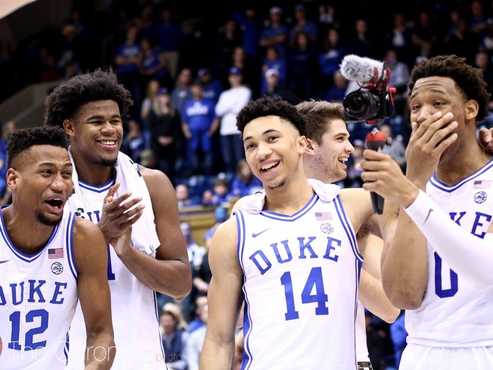 Scoring Big with College Athletes - photo of Duke Men's basketball team via the Duke Chronical